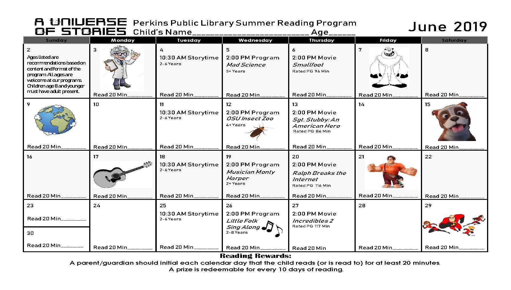Perkins, OK - Official Website - Summer Reading Program