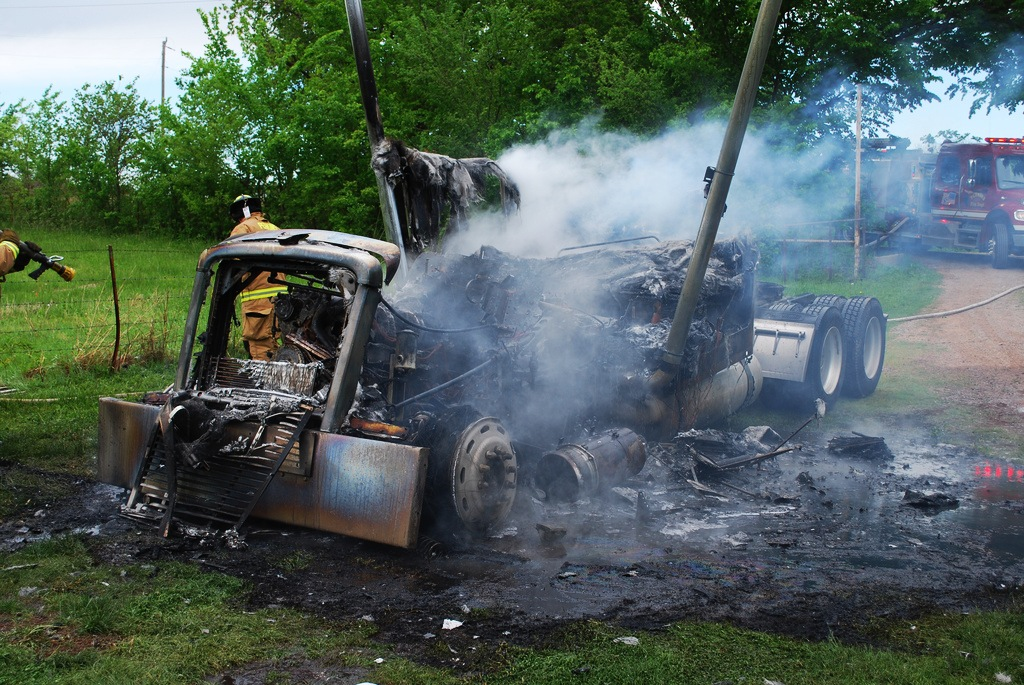 Tractor Truck Fire